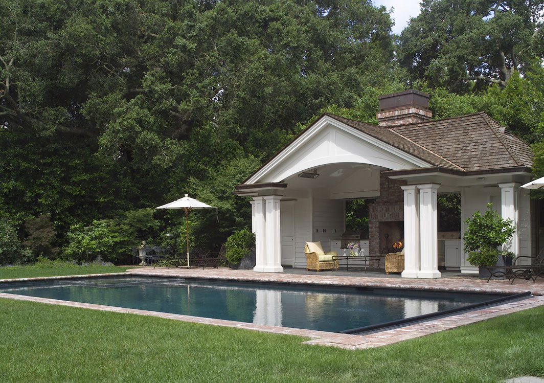 Exterior Pool and Poolhouse